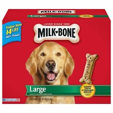 Milk-Bone Large Dog Biscuits; Dry Dog Food; Dog Treat - 14 lbs Free Shipping NEW