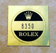 ROLEX VINTAGE Caseback Certificate Sticker 6350 Explorer