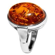 4.45g Authentic Baltic Amber 925 Sterling Silver Ring Jewelry s.8 A7460S8