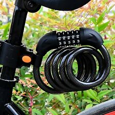 Black 5Digital Bicycle Resettable Combination Cable Lock Cycling Bike Chian Lock