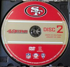 SAN FRANCISCO 49ERS vs. MIAMI DOLPHINS Superbowl XIX DVD + Joe Montana Bonus RC