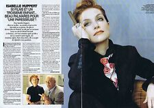 Coupure de presse Clipping 1997 Isabelle Huppert  (2 pages)