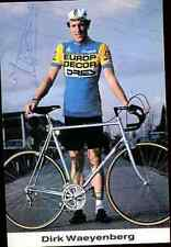 DIRK WAYENBERG Team EUROP-DECOR DRIES Signed Autographe eddy merckx vélo bike