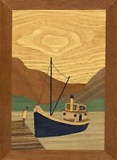 Traditional Marquetry Craft Kit: Clyde Puffer. From The Cove Workshop