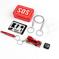 Outdoor Portable Emergency Survival Kit Box SOS Equipment For Camping Hiking
