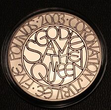 2003 Royal Mint Coronation God Save the Queen Proof Five Pound Crown £5 Coin