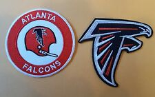 "(2) Atlanta Falcons EMBROIDERED IRON ON PATCH lot   3"" x 3"" NFL"