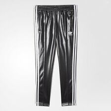NEW ADIDAS WOMEN'S ORIGINALS SST TRACK PANTS BLACK WHITE SZ/ LARGE