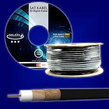 Koax Koaxial 100m Kabel 100db UV beständig Erdkabel schwarz SAT Innen Aussen