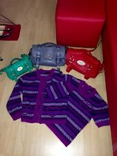 Genuine MULBERRY twin set top et cardigan xs 6 8-mini alexa sac vert également av