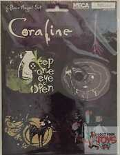 "CORALINE 6 PIECE MAGNETS Other Mother The Cat Neca Sealed RARE 2-4"" Inch WIDE"