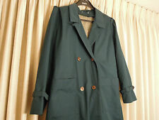 Womens Rain Jacket / Trench / Winter Coat Full Length Unique Green Color Size 14
