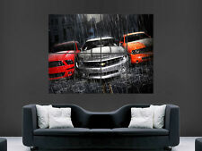 MUSTANG CAMERO DODGE SUPERCHARGER CAR ART WALL LARGE IMAGE GIANT POSTER