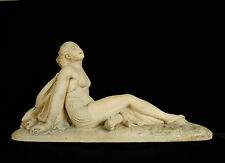Femme à la plage en maillot de bain sculpture art-déco c1930 Woman in swimsuit