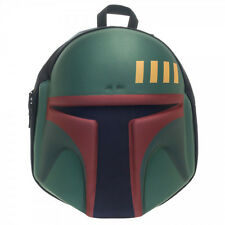 Star Wars Boba Fett's Helmet Licensed 3D Moulded Backpack School/Travel Bag