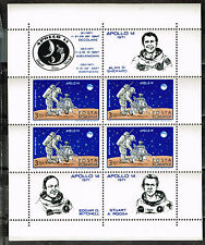 Romania US Space Apollo 14 Moon Exploration Program Souvenir Sheet 1971 MNH