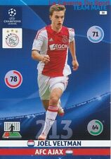 030 JOEL VELTMAN AFC.AJAX  CARD CHAMPIONS LEAGUE ADRENALYN 2015 PANINI