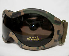 Infantry Goggles Digital Woodland Camo Fox Outdoor Military Tactical Eye UV400
