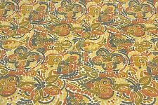 "RICHLOOM DESTINY TERRACOTTA FLORAL OUTDOOR FURNITURE FABRIC BY THE YARD 54""W"