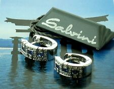 Salvini 18 kt White Gold Earrings Diamonds/Sapphires Final Sale!!!! MSRP $3,340