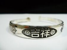 Tibet Tibetan Dragon Phoenix Cuff MANTRA Bracelet Feng Shui Jewelry LUCKY Bangle