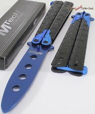 MTech Black Blue Dragon Balisong Training Practice Butterfly Style Knife