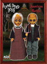 2000 MEZCO LIVING DEAD DOLLS AMERICAN GOTHIC SPENCER GIFTS VARIANT 2 DOLL SET