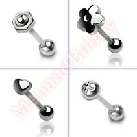 316L Surgical Steel Barbell Tongue Bar Ring Stud Body Piercing Jewellery