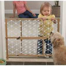 """NEW IN BOX Safety 1st 23-inch Wood Security Gate Baby Dog Expands 28-41"""" wide"""