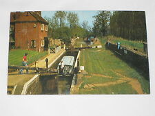 VINTAGE Cropredy's Lock Postcard Great Britain Canal Boat Water Channel Way