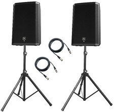 "2x EV ZLX12P two-way 12"" active speakers + STANDS AND CABLES"