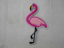 FLAMINGO  NEW EMBROIDERED IRON/SEW ON NAME PATCH