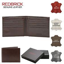 Redbrick London Para Hombre delgado de lujo de cuero genuino marrón Cartera crédito tarjeta titular