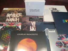 COLDPLAY Vinyl PARLOPHONE COLLECTION W/ STICKERS SINGLES BOX PLUS BONUS LP SET