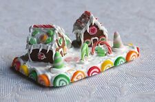 Dolls house miniatures: iced gingerbread winter scene