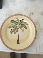 "Home Trends 10 1/2"" Palm Tree Dinner Plate"
