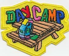 Girl Boy Cub DAY CAMP  Fun Patches Crests Badges SCOUT GUIDE camper camping