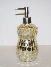 HAND CRAFTED GOLD MIRROR GLASS MOSAIC KITCHEN,BATHROOM SOAP,LOTION DISPENSER
