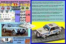 ANEXO DECAL 1/43 TALBOT SUNBEAM LOTUS GUY FREQUELIN RAC RALLY 1980 3rd (02)