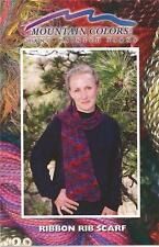 Mountain Colors Ribbon Rib Scarf Knitting Pattern - Simple Lace Pattern Scarf