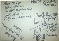 Misty Oldland SIGNED AUTOGRAPHS RARE MTVs Most Wanted Guest Book Page AFTAL UACC