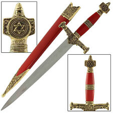 King Solomon Medieval Book Of Kings Crusader Religous Dagger Red Replica