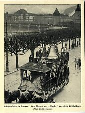 Schillerfeier in Luzern Der Wagen d. Glocke aus d. Fritschizug Bilddokument 1905