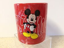 DISNEY STORE Mickey Mouse Red Coffee Chocolate MUG Cup EUC