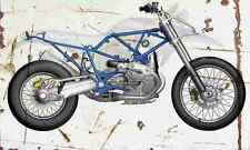 BMW HP2 naked 2005 Aged Vintage SIGN A4 Retro