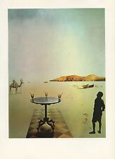 "1976 Vintage SALVADOR DALI ""SUN TABLE"" WOW! FABULOUS COLOR Art Print Lithograph"