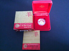 2015 $1 RAM Year of the Goat Silver Proof Coin