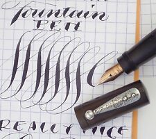 EXTREME FLEX! WATERMAN SAFETY PEN c1910, EXTRA-FLEX 'WET NOODLE' CALLIGRAPHY NIB