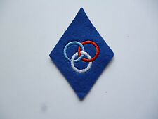 FRENCH AIRBORNE INSTRUCTORS ARM BADGE (BLUE)