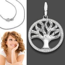 Donne vita rimorchio Albero con Zirconia vita alberelli con catena argento 925